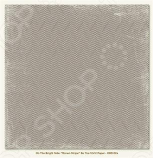фото Бумага для скрапбукинга двусторонняя Morn Sun Brown Stripe Be You, купить, цена