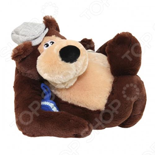 Мягкая игрушка интерактивная Музыкальные подарки «Медвежонок-водила»