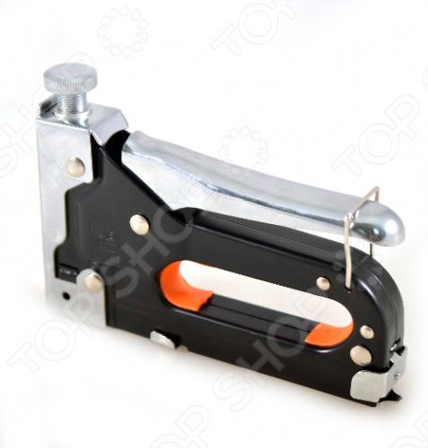 Степлер для узких скоб FIT 32114 - это мебельный степлер для скоб типа 53 для закрепления обивки мебели, крепления плакатов, закрепления проволочной сетки и укрепления теплиц. Модель оснащена регулировочным винтом для более удобного использования. Степлер используется с узкими скобами типа: 31304-31314, 31326-31334, 31404-31414.
