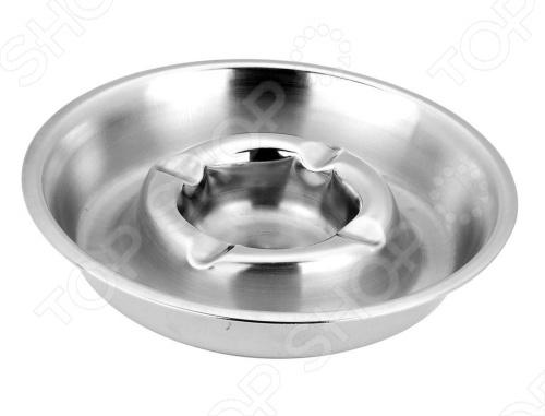 Пепельница Vitesse Classiс VS-8652Пепельницы<br>Часто проводите время в курящей компании Тогда вам может пригодится пепельница Vitesse Classiс VS-8652 из нержавеющей стали. Имеет круглую форму и матовую полировку. Можно мыть в посудомоечной машине.<br>