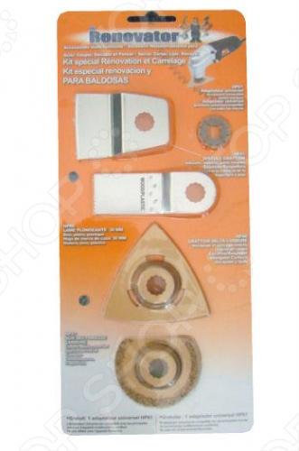 Набор насадок для ручного инструмента Renovator Heavy/Tile Pack: 5 шт.