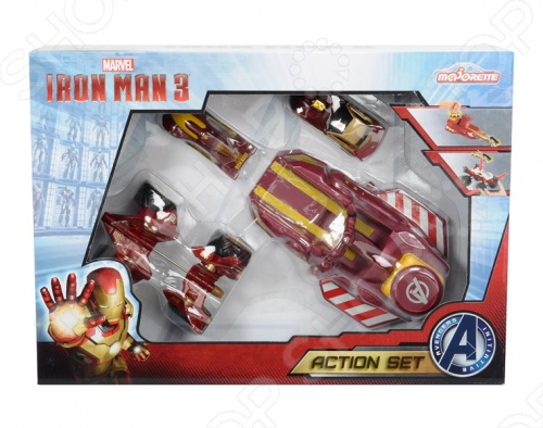 Набор машинок игрушечных Majorette «Железный человек» машинка на радио управлении человек паук majorette