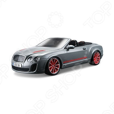 Сборная модель автомобиля 1:18 Bburago Bentley Continental Supersport Convertible ISR