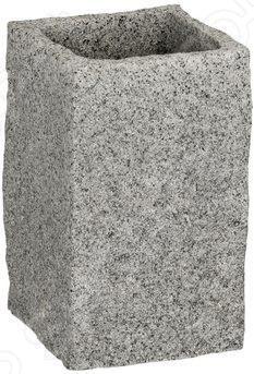 Стакан для ванной Wenko GranitАксессуары для ванной комнаты<br>Стакан для ванной Wenko Granit - удобный и стильный аксессуар, предназначен для хранения зубных щеток и других предметов личной гигиены. Выполнен из высококачественных материалов, устойчивых к повышенной влажности и перепадам температуры. Стакан легко моется и не требует особого ухода. Интересный дизайн модели выгодно подчеркнет индивидуальный стиль вашей ванной комнаты.<br>
