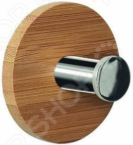 Крючок для ванной Spirella Opunt-RoundДержатели для ванной комнаты и туалета<br>Крючок для ванной Spirella Opunt-Round - оригинальная модель, станет интересным дополнением интерьера. Крючок изготовлен из нержавеющей стали и дерева, легко крепится на стену или дверь ванной комнаты. На него можно повесить халат, полотенце, мочалку или косметичку. Крепится на присоске. Прежде,чем закрепить крючок, необходимо очистить поверхность от жира и грязи. Максимальная нагрузка - 1 кг. Для очистки изделия не использовать сильные химические средства.<br>