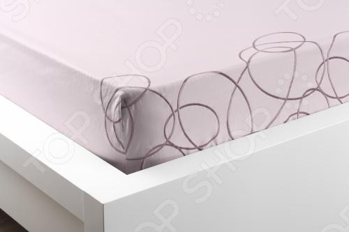 Фото Комплект постельного белья Dormeo Elipse. 1-спальный. Цвет: розовый