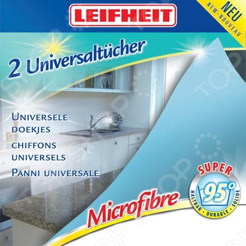 Ткань для уборки универсальная Leifheit 40009Салфетки. Губки. Тряпки<br>Ткань для уборки Leifheit 40009 это универсальная ткань для уборки. Такие салфетки станут незаменимыми помощниками у вас дома. Микроскопическая структура волокна хорошо впитывает большое количество влаги. В комплект входят 2 салфетки. Известная марка Leifheit предлагает качественные товары для дома. Вся их продукция отличается функциональностью и безупречным качеством.<br>