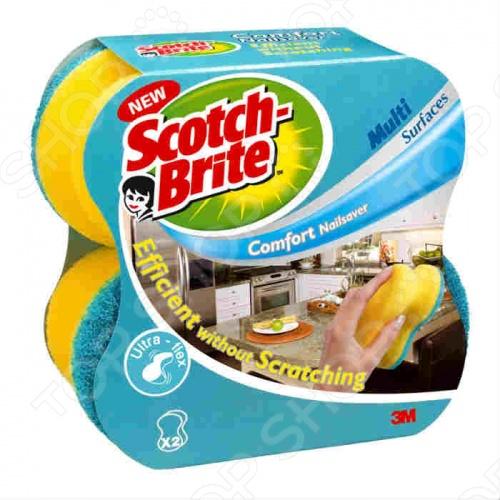 Губка Scotch Brite Комфорт губка для посуды scotch brite универсальная 2 шт 13605
