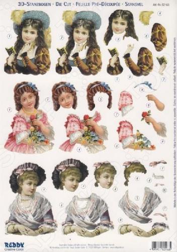 Аппликация бумажная вырубная Reddy Creative Cards «Детские портреты» Аппликация бумажная вырубная Reddy Creative Cards «Детские портреты» /