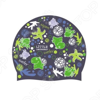 Шапочка для плавания Submarine LS2Шапочки для плавания детские<br>Шапочка для плавания Submarine LS2 изготовлена из силикона и отлично защищает волосы от вредного воздействия хлора. Такая шапочка очень понравится вашему, ведь она выполнена в ярком зеленом цвете с рисунком.<br>