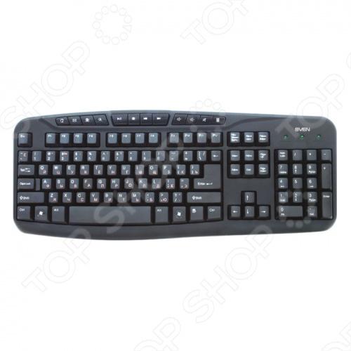 SVEN Comfort 3050 - это компактная клавиатура особенность которой является современный тонкий дизайн и мультифункциональность. Данная модель имеет удобный регулятор громкости для прослушивания и смены музыки во время работы в Fullscreen режиме, так же 3 удобно расположение кнопки управления электропитанием. SVEN Comfort 3050 имеет 12 дополнительных кнопок для быстрого доступа к интернету, приложениям и мультимедиа. Клавиатура изготовлена в соответствии стандартам FCC,CE и подходит ко всем операционным системам.