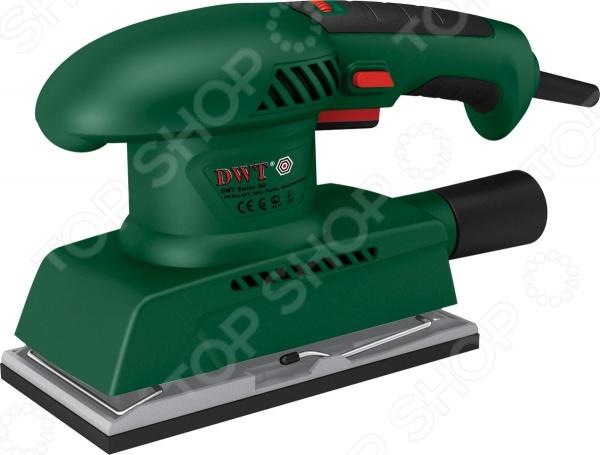 Машина шлифовальная вибрационная DWT ESS-200 VШлифовальные машины<br>Машина шлифовальная вибрационная DWT ESS-200 V, от ведущего поставщика строительных электроинструментов и комплектующих к ним DWT, представляет собой специализированный инструмент, предназначенный для полировки и шлифовки поверхностей из различных материалов. Модель изготовлена из высококачественных ударопрочных материалов, снабжена пылесборником и системой блокировкой кнопки включения и регулировки скорости. Шлифмашина работает от сети, ее потребляемая мощность составляет 200 Вт, а максимальная скорость колебания платформы 12000 кол мин. Крепление шлифовального листа осуществляется при помощи зажимов и липучки.<br>