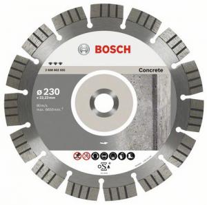 Диск отрезной алмазный для угловых шлифмашин Bosch Best for Concrete 2608602656 диск отрезной алмазный турбо 115х22 2mm 20006 ottom 115x22 2mm