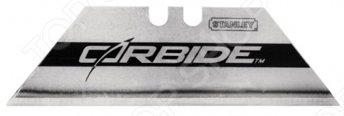Лезвия для ножа STANLEY Carbide 25 мм используется для ножей Stanley. Применяется для резки различных твердых материалов. Изготовлено из прочной инструментальной стали, отличается длительным сроком службы и износостойкостью в 5 раз больше других лезвий . Кромка лезвия покрыта порошком карбида вольфрама, что придает высокую твердость и прочность. Гибкость всего изделия сохраняется. В комплекте 5 штук.