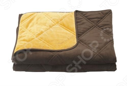 Фото Одеяло декоративное Dormeo Trend Blanket. Размер: 140х200 см. Цвет: шоколадный, оранжевый