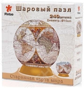 Пазл шаровой Pintoo «Старинная карта мира» 64515 A1151_06