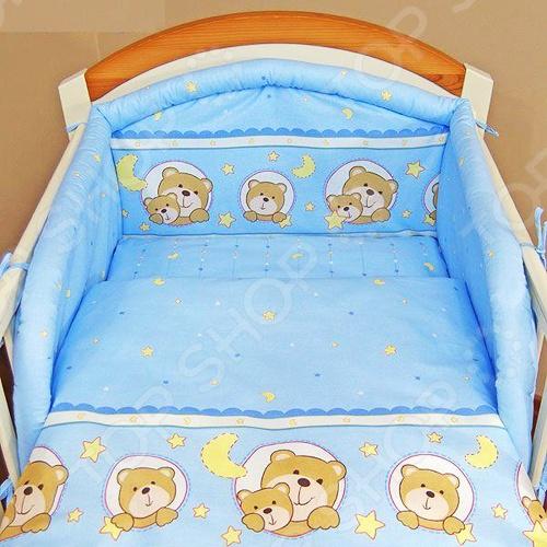 фото Комплект в кроватку Луняшки «Мечтатель», Постельные принадлежности для новорожденных
