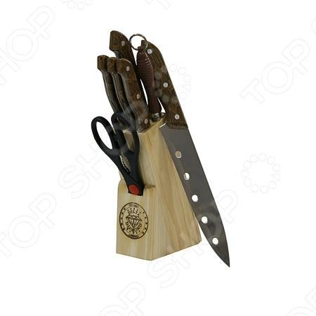 Набор ножей Webber ВЕ-2105 состоит из 8 предметов. Ножи изготовлены из высококачественных материалов, поэтому прослужат вам долгое время. В комплект входят: большой нож, нож для нарезки хлеба, разделочный нож, универсальный нож, нож для чистки овощей, ножницы, точило и деревянный блок-подставка.