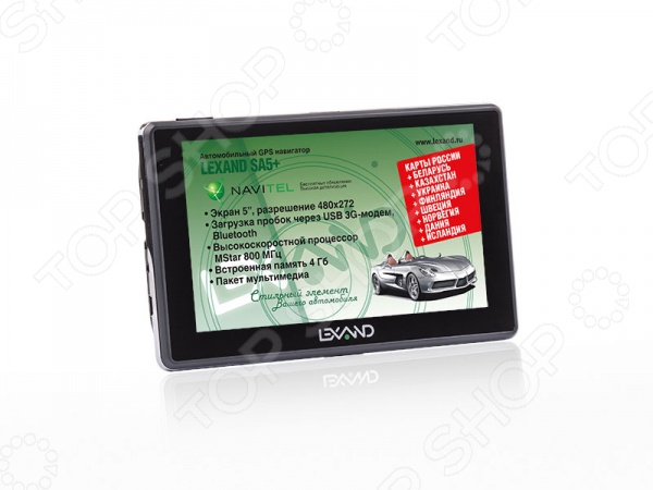 Навигатор Lexand SA5+ gps навигатор lexand sa5 hd 5 авто 4гб navitel 8 7 с расширенным пакетом картографии черный