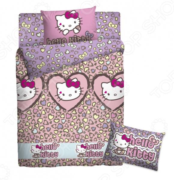 Детский комплект постельного белья Hello Kitty «Леопард»