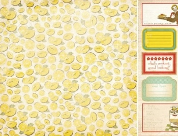 фото Бумага для скрапбукинга двусторонняя Kaisercraft Lemon Slic, купить, цена