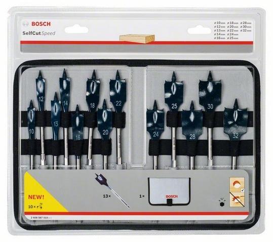 Набор сверл по дереву перьевых Bosch Self Cut Speed набор перьевых сверл bosch self cut speed 2608595425