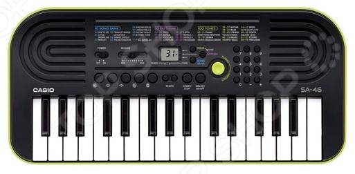 Синтезатор Casio SA-46 музыкальный инструмент детский doremi синтезатор 54 клавиши 78 см