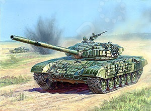 Сборная модель Звезда танк с активной броней Т-72Б