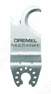 Полотно крючковое Dremel MM430Прочие расходные материалы для строительства и ремонта<br>Полотно крючковое Dremel MM430 представляет собой надежное и практичное приспособление для резки. Подходит для работы с картоном, ковровыми покрытиями, черепицей и другими материалами подобного типа. Предназначен для работы только с инструментами марки Dremel.<br>