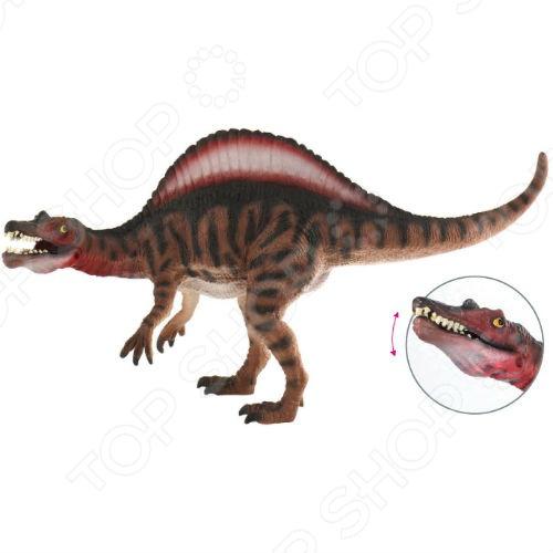 Фигурка-игрушка Bullyland Спинозавр с открывающейся пастьюИгрушечные животные<br>Фигурка-игрушка Bullyland Спинозавр с открывающейся пастью из серии Доисторическая фауна станет отличным подарком для всех поклонников фантастического доисторического мира нашей планеты. Коллекционная модель великолепно проработана, а в процессе изготовления были использованы только высококачественные нетоксичные материалы, абсолютно безопасные для человека. Кроме того, у динозавра открывается и закрывается пасть.<br>