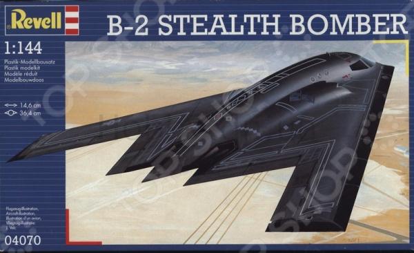 Сборная модель бомбардировщика Revell В-2 Stealth сборная модель revell набор самолет боинг 747 200 в наборе кисти краски клей картонная коробка с европодвесом 63999