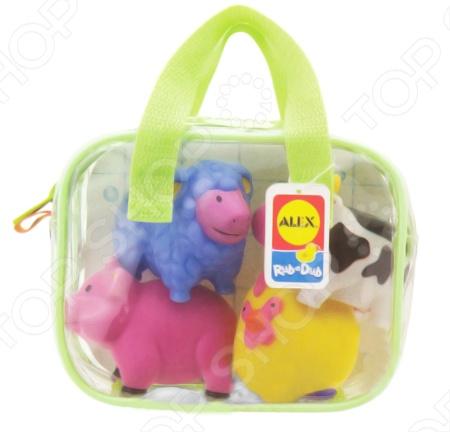 Игрушки для ванны Alex «Ферма» игрушки для ванной alex игрушки для ванны джунгли