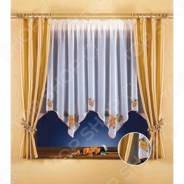 Комплект штор Wisan EmmaШторы<br>Комплект штор Wisan Emma это качественный оконный занавес, который преобразит интерьер и оживит атмосферу, придав всей комнате домашний уют, завершенность и оригинальность. Шторы изготовлены из полиэстера, который практически не мнется, легко отстирывается от загрязнений, не притягивает пыль и не требует глажки. Благодаря этому ткань способна выдержать сотни стирок без потери цвета и прочности. Обычные материалы со временем выгорают, на них собирается пыль, появляются неприятные запахи. С полиэстером этого не происходит штора почти не пачкается и не впитывает запахи, при этом вы очень легко ее постираете и высушите. Интерьер квартиры или дома, в котором окна не украшены занавесом, сегодня трудно представить, поэтому шторы станут отличным подарком для любого человека. Купить шторы способ недорого, быстро и изящно преобразить дизайн домашнего интерьера!<br>