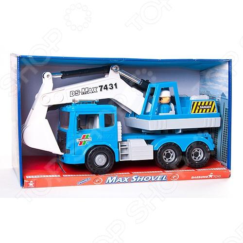 Машинка игрушечная Daesung MAX автоэкскаватор - яркая, реалистичная, качественно смоделированная копия грузовика специальной службы. Отличная модель с инерционным механизмом, для игры как дома, так и на улице с друзьями. Подарите вашему малышу интересную и оригинальную игрушку, которая в свою очередь обеспечит массу удовольствия и веселья за игрой.