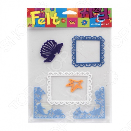 фото Аппликации из фетра RTO «Рамки, уголки, ракушки», купить, цена