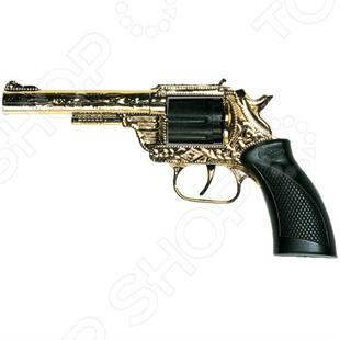 Пистолет Edison Giocattoli Dakota Metall Gold Western пистолет edison giocattoli long boy western
