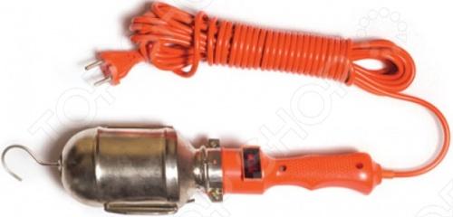 Светильник переносной UNIVERSAL с выключателем предназначен для повседневного освещения или для освещения отдельных объектов при работе. Его удобно держать в руке или можно освободить руки и подвесить его на крючок. У светильника есть лампа накаливания мощностью 60 Вт.
