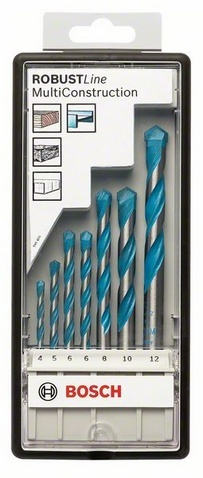 Набор сверл универсальных Bosch Robust Line CYL-9 Multi Construction 2607010543 Bosch - артикул: 388793
