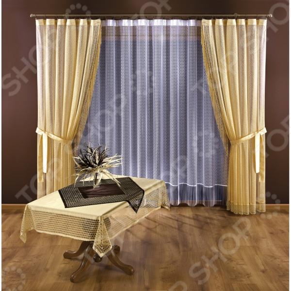 Комплект штор Wisan 3326Шторы<br>Комплект штор Wisan 3326 это качественный оконный занавес, который преобразит интерьер и оживит атмосферу, придав всей комнате домашний уют, завершенность и оригинальность. Шторы изготовлены из полиэстера, который практически не мнется, легко отстирывается от загрязнений, не притягивает пыль и не требует глажки. Благодаря этому ткань способна выдержать сотни стирок без потери цвета и прочности. Обычные материалы со временем выгорают, на них собирается пыль, появляются неприятные запахи. С полиэстером этого не происходит штора почти не пачкается и не впитывает запахи, при этом вы очень легко ее постираете и высушите. Интерьер квартиры или дома, в котором окна не украшены занавесом, сегодня трудно представить, поэтому шторы станут отличным подарком для любого человека. Купить шторы способ недорого, быстро и изящно преобразить дизайн домашнего интерьера!<br>