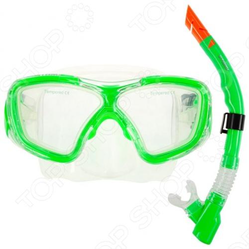 Набор из маски и трубки ATEMI 24103Наборы для дайвинга<br>Набор ATEMI 24103 включает в себя трубку для подводного плавания и маску. Маска с линзами из закаленного стекла 4 мм, ремешком из силикона и обтюратором необходима для защиты глаз под водой. Трубка для дыхания включает в себя клапан быстрой продувки, загубник из силикона, гибкую гофрированную вставку и насадку, защищающею от захлестывания волной.<br>