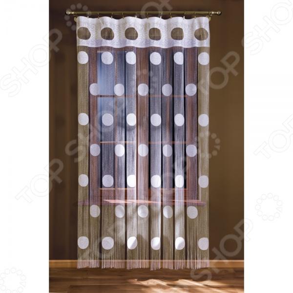 Гардина-лапша Wisan 148А это качественный оконный занавес, который преобразит интерьер и оживит атмосферу, придав всей комнате домашний уют, завершенность и оригинальность. Гардина изготовлена из полиэстера, который практически не мнется, легко отстирывается от загрязнений, не притягивает пыль и не требует глажки. Благодаря этому ткань способна выдержать сотни стирок без потери цвета и прочности. Обычные материалы со временем выгорают, на них собирается пыль, появляются неприятные запахи. С полиэстером этого не происходит гардина почти не пачкается и не впитывает запахи, при этом вы очень легко ее постираете и высушите. Интерьер квартиры или дома, в котором окна не украшены занавесом, сегодня трудно представить, поэтому гардина станет отличным подарком для любого человека. Купить гардину способ недорого, быстро и изящно преобразить дизайн домашнего интерьера!