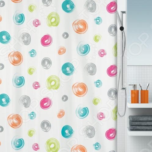 Штора для ванной комнаты Spirella BrushКарнизы. Шторки для ванной<br>Штора для ванной комнаты Spirella Brush это отличная штора, которая изготовлена из экологически чистого текстиля. Верхняя кромка имеет отверстия для колец. Приятный рисунок успокаивает и замечательно вписывается в дизайн вашей ванной комнаты. Если необходимо очистить поверхность, то рекомендуется ручная стирка.<br>