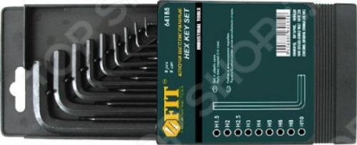 Набор ключей коротких шестигранных FIT 64185 набор шестигранных ключей sata 09108