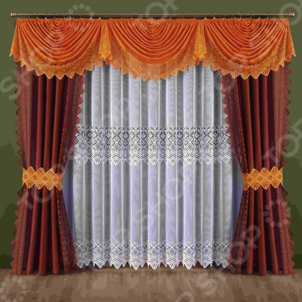 Комплект штор Wisan 188WШторы<br>Комплект штор Wisan 188W это качественный оконный занавес, который преобразит интерьер и оживит атмосферу, придав всей комнате домашний уют, завершенность и оригинальность. Шторы изготовлены из полиэстера, который практически не мнется, легко отстирывается от загрязнений, не притягивает пыль и не требует глажки. Благодаря этому ткань способна выдержать сотни стирок без потери цвета и прочности. Обычные материалы со временем выгорают, на них собирается пыль, появляются неприятные запахи. С полиэстером этого не происходит штора почти не пачкается и не впитывает запахи, при этом вы очень легко ее постираете и высушите. Интерьер квартиры или дома, в котором окна не украшены занавесом, сегодня трудно представить, поэтому шторы станут отличным подарком для любого человека. Купить шторы способ недорого, быстро и изящно преобразить дизайн домашнего интерьера!<br>