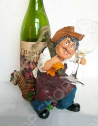 Подставка для вина Drivemotion Фермер с бутылкой на спине