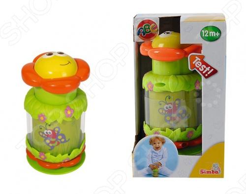 Игрушка развивающая Simba Цветочек-волчок - станет замечательным подарком для вашего малыша. Игрушка развивает мелкую моторику, координацию движения, формирует цветовосприятие и представление о причинно-следственой связи. Игрушка на долго привлечет внимание ребенка и он с увлечением будет открывать для себя новые возможности. изготовлена из прочного и безопасного пластика.