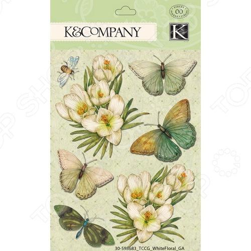 K&Company Стикер-украшение K&Company «Белоснежный сад»