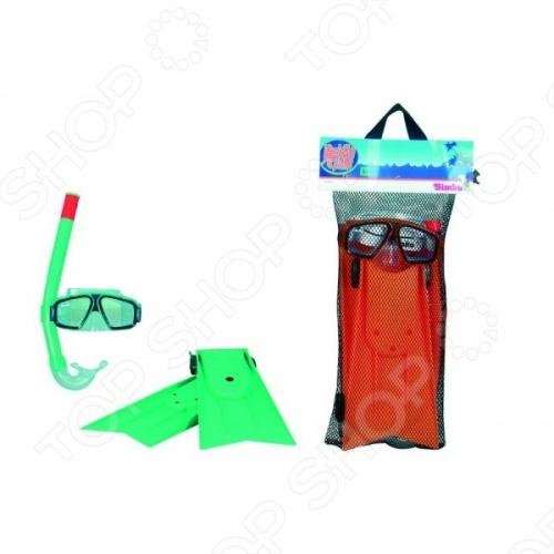 Набор: очки для плавания, трубка и ласты Simba