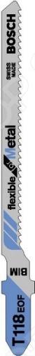 Набор пилок для лобзика Bosch Т 118 EOF BIM  набор пилок по дереву bosch t101bf bim 2шт 2609256728
