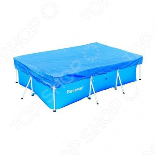 Чехол защитный для бассейна прямоугольного на стойках Bestway 58105 бассейн прямоугольный на стойках 122х122х30 5 см bestway 56217